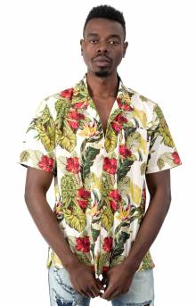Paraiso Resort Button-Up Shirt - Natural