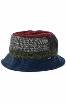 Pops Herringbone Bucket Hat - Black
