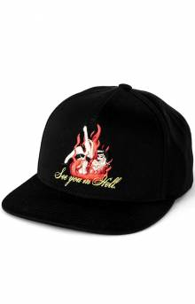 See You In Hell Snap-Back Hat - Black
