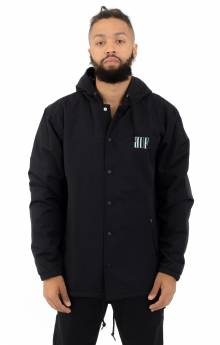 Serif Quilted Coaches Jacket - Black