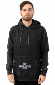 Serif Stack Frost Wash Pullover Hoodie - Black