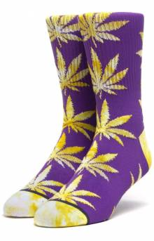 Tie-Dye Leaves Plantlife Sock - Ultra Violet