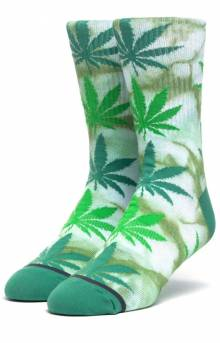 Tie-Dye Plantlife Sock - Green