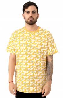 Transit Logo All Over T-Shirt - Mineral Yellow