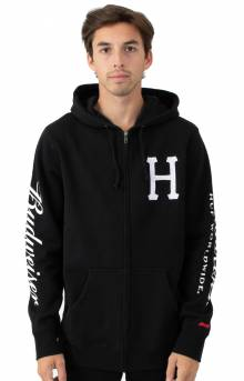 Budweiser Classic H Full Zip-Up Hoodie - Black