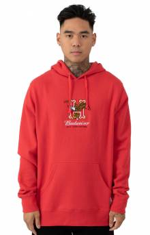 Budweiser Eagle Pullover Hoodie - Red