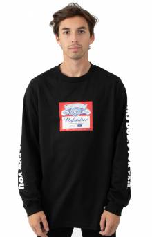 Budweiser Label L/S Shirt - Black