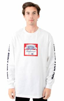 Budweiser Label L/S Shirt - White