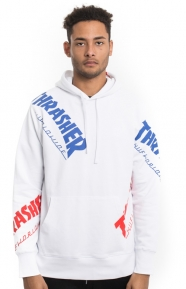 Huf x Thrasher Clothing, TDS Allover Pullover Hoodie - White