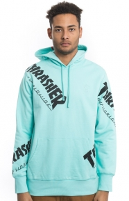 Huf x Thrasher Clothing, Thrasher TDS Allover Pullover Hoodie - Mint
