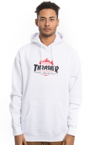 Huf x Thrasher Clothing, Tour De Stoops Pullover Hoodie - White