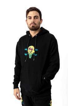 Chenille Pullover Hoodie - Black