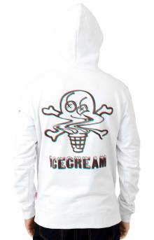 Chocolate Pullover Hoodie - White