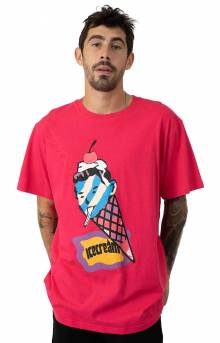 Cone Head T-Shirt - Raspberry