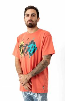 Faces And Places T-Shirt - Deep Sea Coral