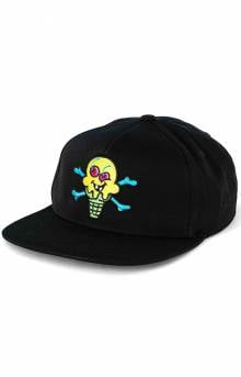 Green Cone Snap-Back Hat - Black