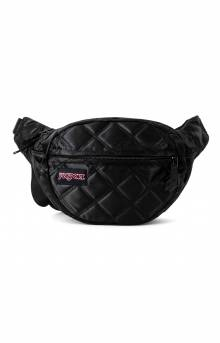 Fifth Avenue FX Fanny Pack - Black Satin Diamond Quilting