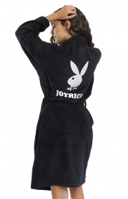 Playboy Bath Robe - Black