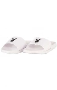 Playboy Slides - White