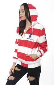 Joyrich x Playboy Clothing, USA Striped Playboy Hooded Jacket