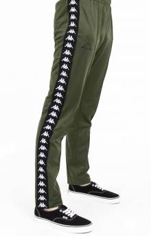 222 Banda Astoria Slim Track Pants - Green Africa/Black