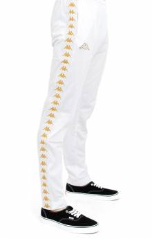 222 Banda Astoria Slim Track Pants - White/Gold