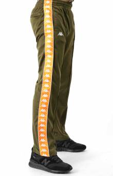 222 Banda Astoriazz Trackpant - Green Oliva/Orange