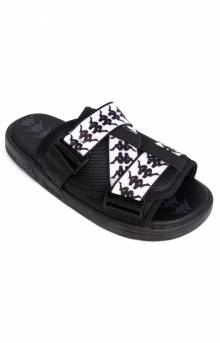 222 Banda Mitel 1 Sandals - Black/White