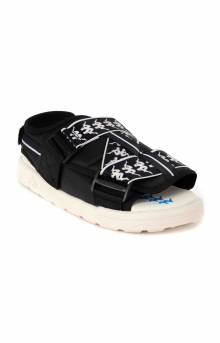 222 Banda Mitel 2 Sandals - Black/White/Blue