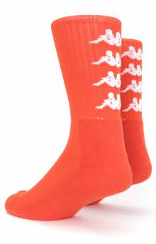 Authentic Amal Socks - Red Orange/White