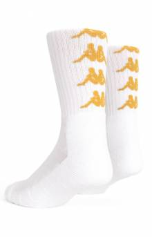 Authentic Amal Socks - White/Gold