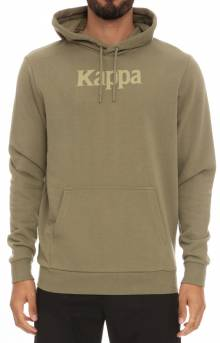 Authentic Haris Pullover Hoodie - Olive Green/Light Green/White