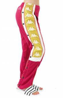 222 Banda 10 Arvis Snap Track Pants - Red/White/Gold