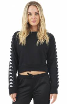 222 Banda Amay Crop Crewneck - Black/White