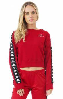222 Banda Amay Crop Crewneck - Red/Black