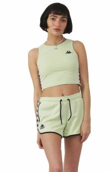 222 Banda Anguy Alternating Banda Shorts - Green/Grey/Black