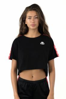 222 Banda Apua T-Shirt - Black/Red Fragola
