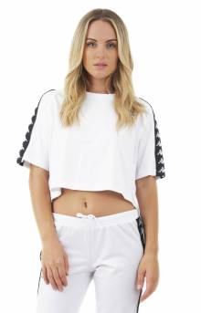 222 Banda Avant Crop Top - White/Black