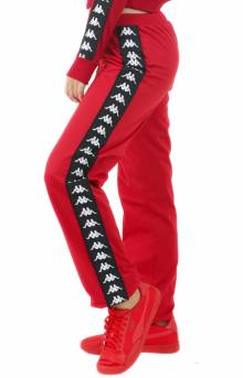 222 Banda Wastoria Slim Track Pants - Red/Black