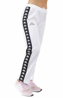 222 Banda Wastoria Slim Track Pants - White/Black