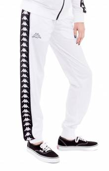 222 Banda Wrastoria Slim Track Pants - White/Black
