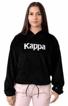 Authentic JPN Belua Velour Pullover Hoodie - Black/White