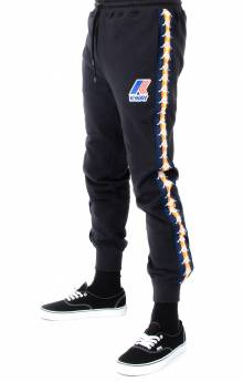 Kappa x K-Way, Le Vrai Ivan Banda Sweatpants - Black