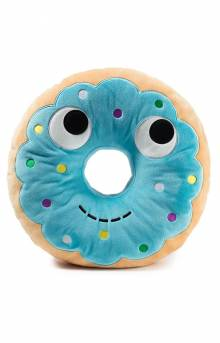 Yummy World Blue Donut Plush Food Pillow