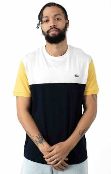 Colorblock Regular Fit Cotton Jersey T-Shirt - Navy Blue/White
