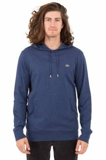 Cotton Hooded T-Shirt - Navy
