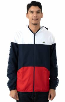 Croc Tape Color Block Wind Jacket - White/Navy/Red