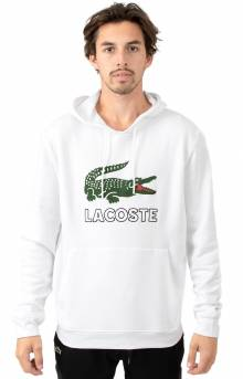 Graphic Croc Fleece Pullover Hoodie - White