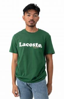 Lacoste And Crocodile Branded Cotton T-Shirt - Green