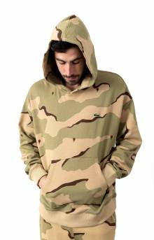 LIVE Hooded Camo Print Fleece - Beige/White